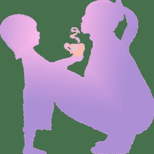 Woman-and-girl